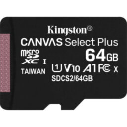 Карта памяти Kingston Canvas Select Plus microSD 100R  64Гб