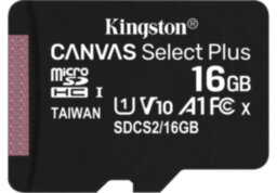Карта памяти Kingston Canvas Select Plus microSD 100R  16Гб